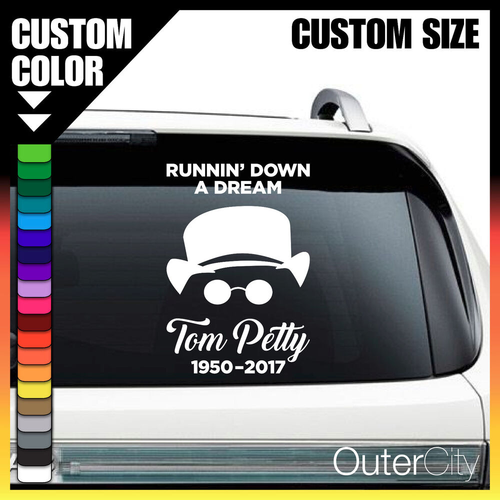 Details about tom petty r i p custom vinyl decal dream car bumper sticker window vehicle