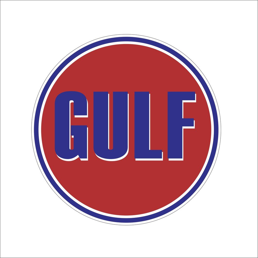 Details about gulf garage toolbox cool vinyl hard hat sticker decal motorcycle car decor