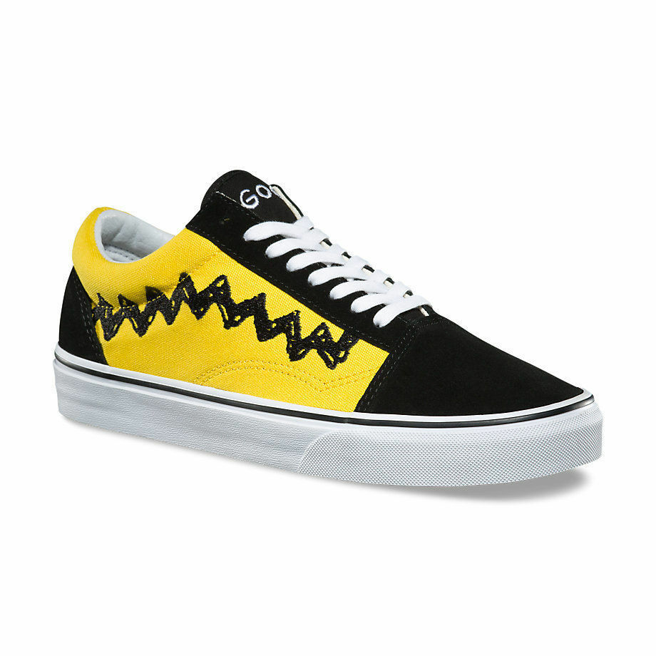 3a4e0bf278d5 Details about Men s Vans x Peanuts Old Skool - Charlie Brown Black Yellow  VN08G1OHJ SZ 3-13 DS