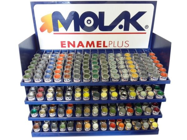COLORI MOLAK ENAMEL 18ml HUMBROL REVELL GLOSS SATIN METALLIC MATT X MODELLISMO
