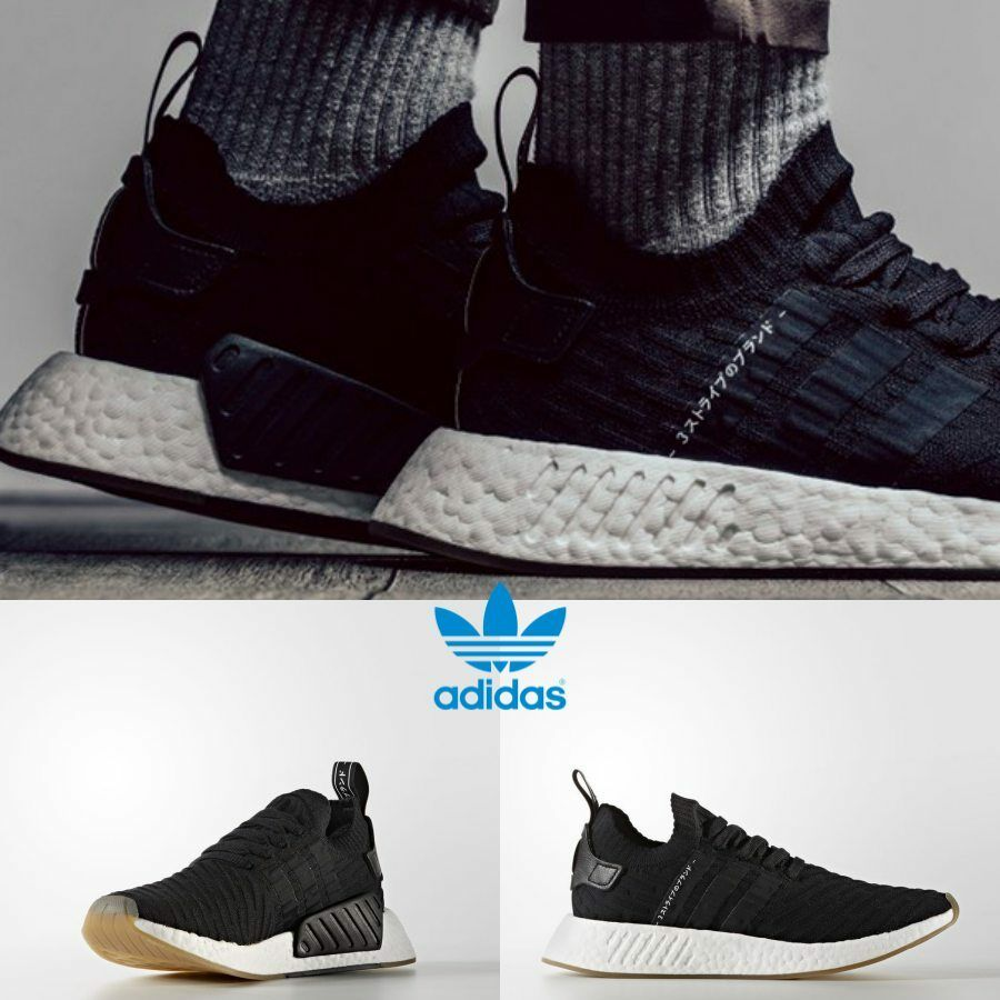 398223d5d65a17 Details about Adidas Original NMD R2 PK Black Black Grey Sneakers BY9696  Japan Limited S 4-11