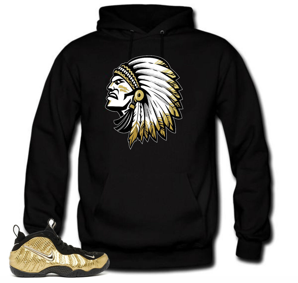 fc7f1c5b2 Details about Hoodie to match Metallic Gold Foamposite Pro sneakers The  chief Black Hoodie