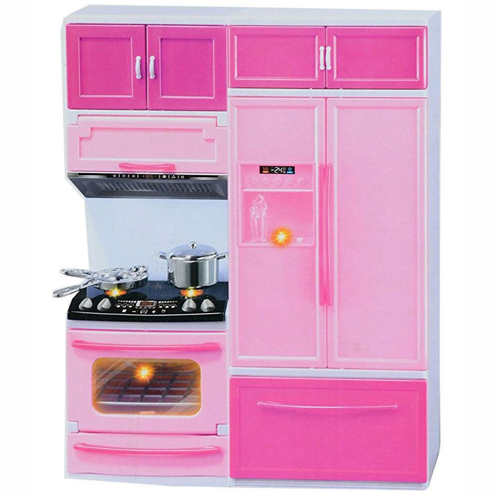 Mini Kitchen Stove: Kids Modern Doll Play Mini Kitchen Toy Play Set