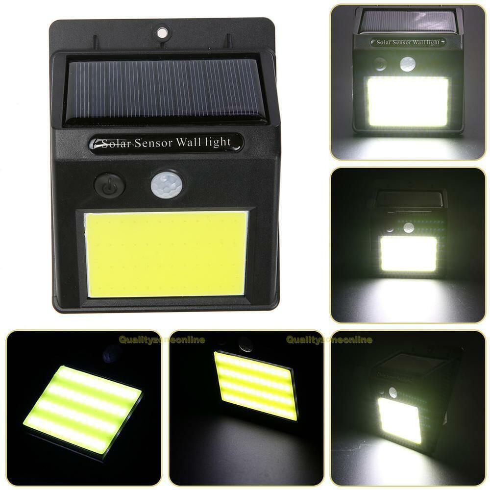 48 led solar wandleuchte au en garten solarleuchte bewegungsmelder lichtsensor ebay. Black Bedroom Furniture Sets. Home Design Ideas