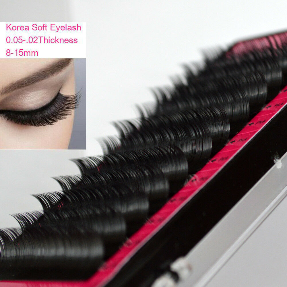 e10181d97e4 Details about Eyelashes Lash Extension All Size B/C/D Curl 1 tray Mink Silk  Individual S-001