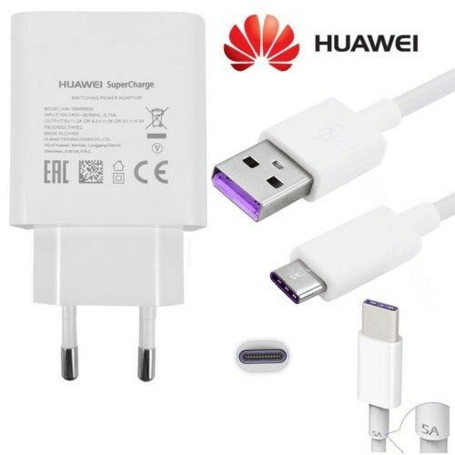 HW-050450E00 CaricaBatterie SUPERCHARGE Originale Huawei+ Cavo Type-C Fast 5A