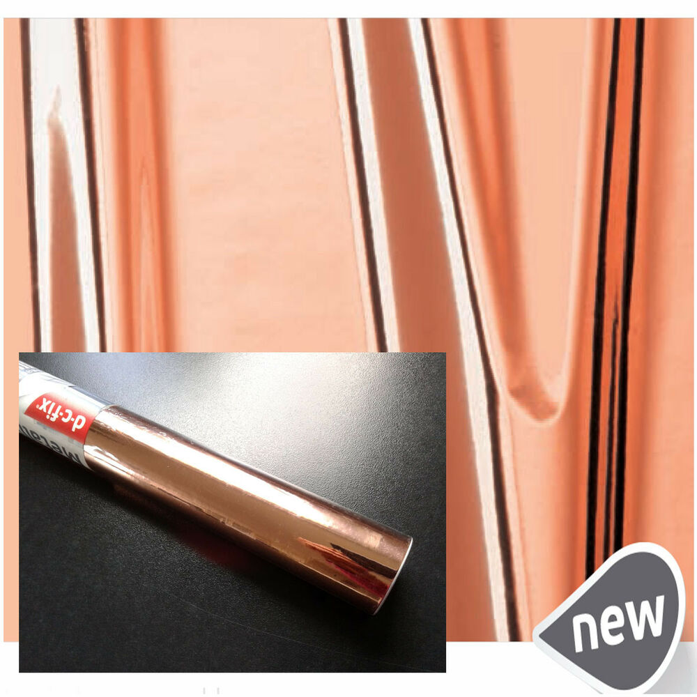Copper rose gold self adhesive vinyl film sticky back for Rose adesive