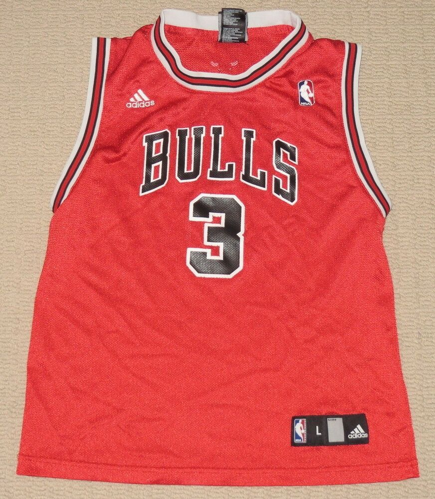NBA Basketball Chicago Bulls Ben Wallace  3 Jersey Boys Youth Large Adidas   3871704c8