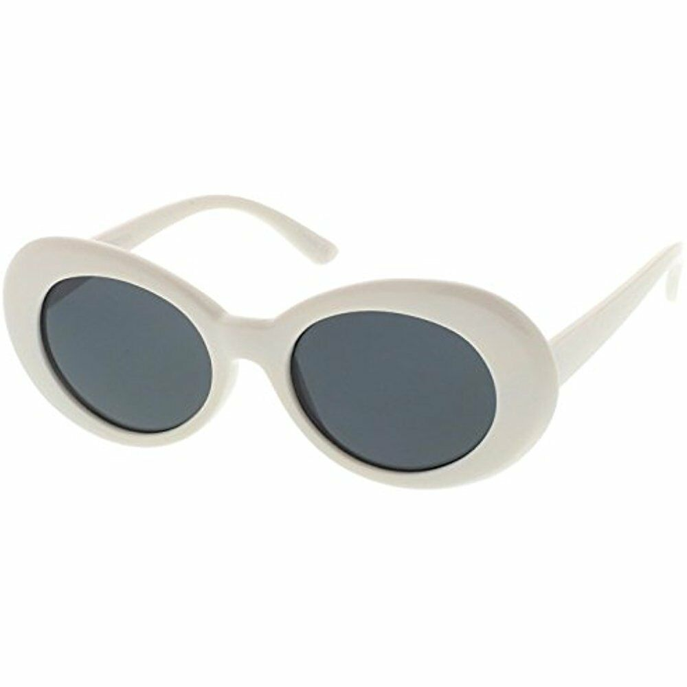 8561d1b569 Details about White Clout Goggles Sunglasses Migos Oval Bold Thick Frame  Round 400 UV Women
