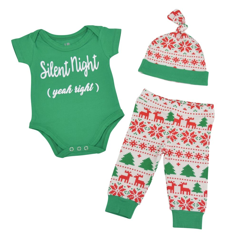 Unisex Baby Boy Girl Silent Night First Christmas Layette