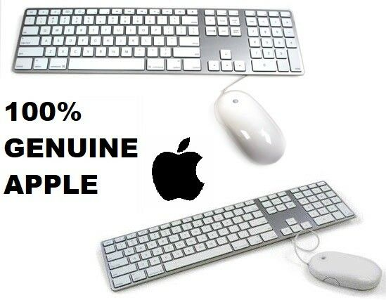 genuine apple keyboard mouse 100 authentic apple product silver 885909173945 ebay. Black Bedroom Furniture Sets. Home Design Ideas