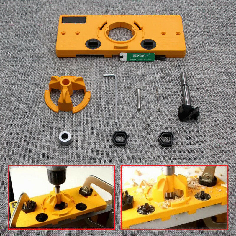 35mm Concealed Hinge Jig Boring Hole Drill Guide Cutter
