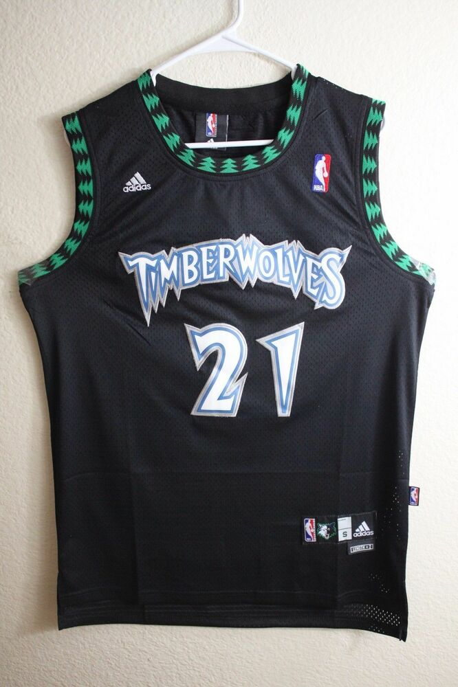 f1008e9fe491 Kevin Garnett Black  21 Minnesota Timberwolves Throwback Swingman Jersey  Men