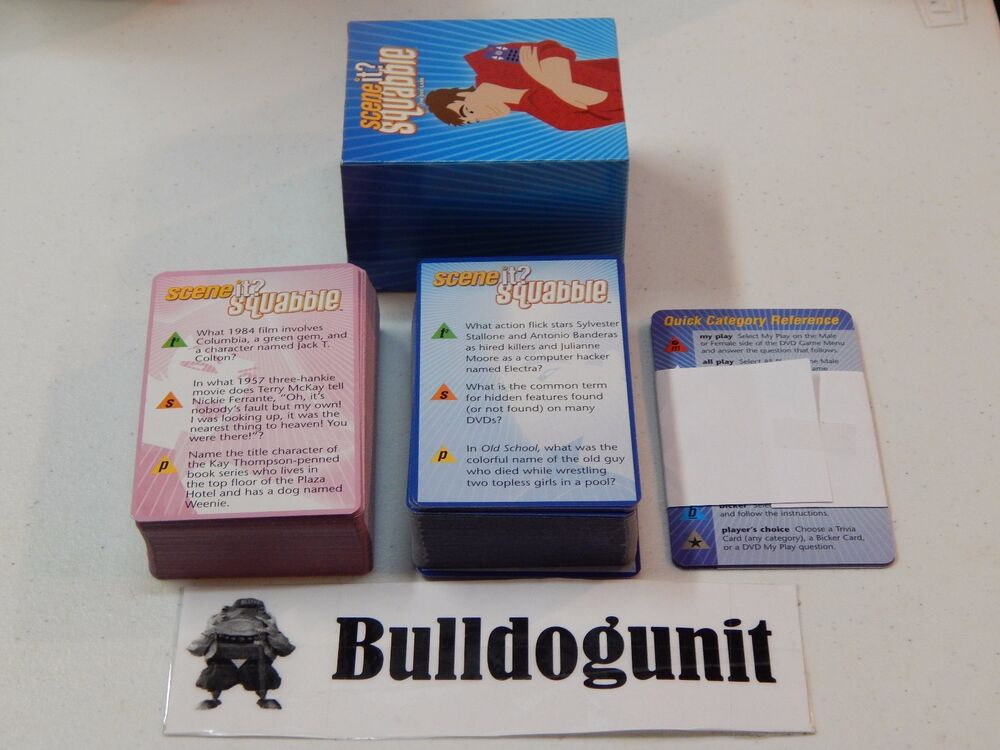 2006 Scene It Squabble Dvd Board Game Replacement Question Cards