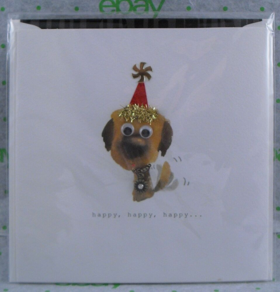 Details About PUPPY DOG THEMED BIRTHDAY CARD From TEN BAMBOO STUDIO PREMIUM GREETING CARDS