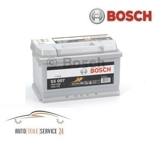 bosch s5 007 74ah 750a 12v batterie de v hicules starter battterie pkw batterie ebay. Black Bedroom Furniture Sets. Home Design Ideas