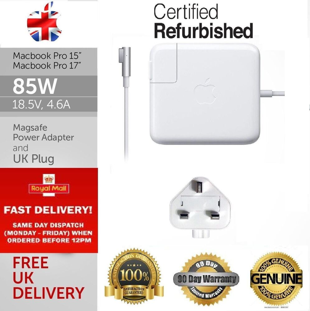 Genuine Refurbished Apple 85w Macbook Pro 15 Magsafe Charger A1343 Adapter Original A1290 A1286 Ebay