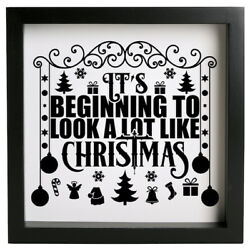 Its Beginning To Look A Lot Like Christmas Decal Sticker For Frame/Box Wall