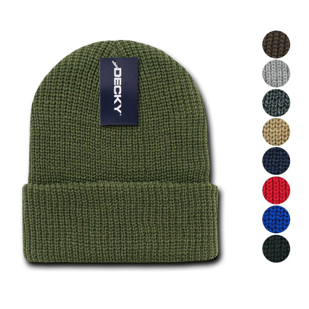 60620a2a6e7 Details about 6 Pack Decky Beanies Watch Caps Hats Great Gift Set Warm  Winter Wholesale Lot
