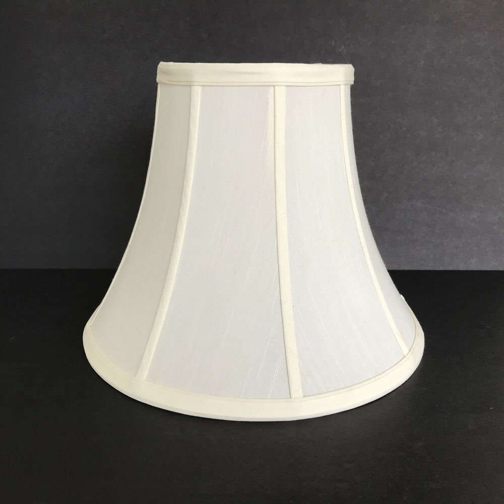 Details About Cream Bell Shaped Lampshade 12 X 6 9 1 2 Tall With Spider Er