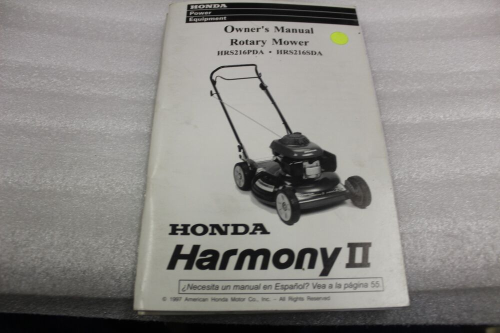 details about honda oem owners manual 1997 harmonyii lawnmower hrs216pda  hrs216sda