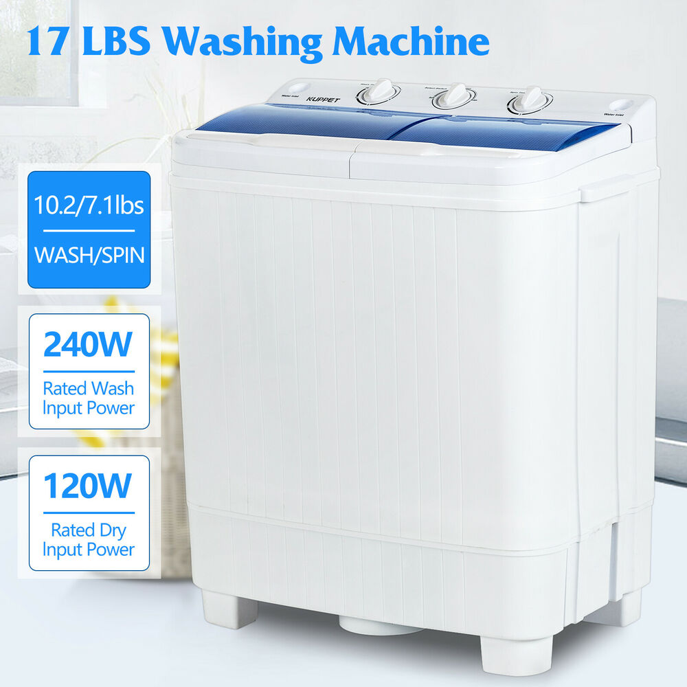 Portable Washing Machine 17lbs Mini Compact Twin Tub