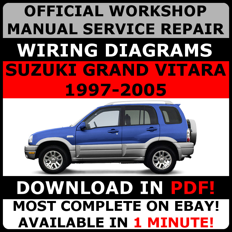 official workshop service repair manual for suzuki grand vitara 1997 rh ebay co uk 2002 Suzuki Grand Vitara 1998 Suzuki Grand Vitara