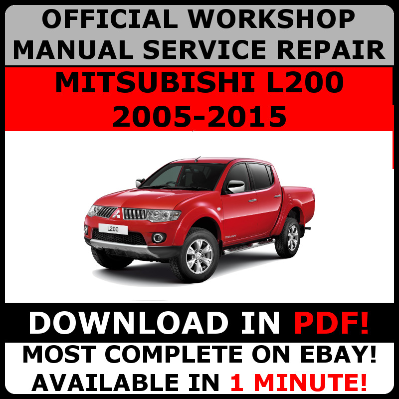 Official workshop service repair manual for mitsubishi l200 2005 official workshop service repair manual for mitsubishi l200 2005 2015 ebay asfbconference2016 Gallery