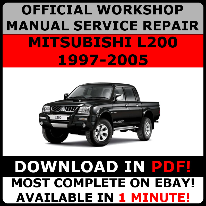 Official workshop service repair manual for mitsubishi l200 1997 official workshop service repair manual for mitsubishi l200 1997 2005 ebay asfbconference2016 Choice Image