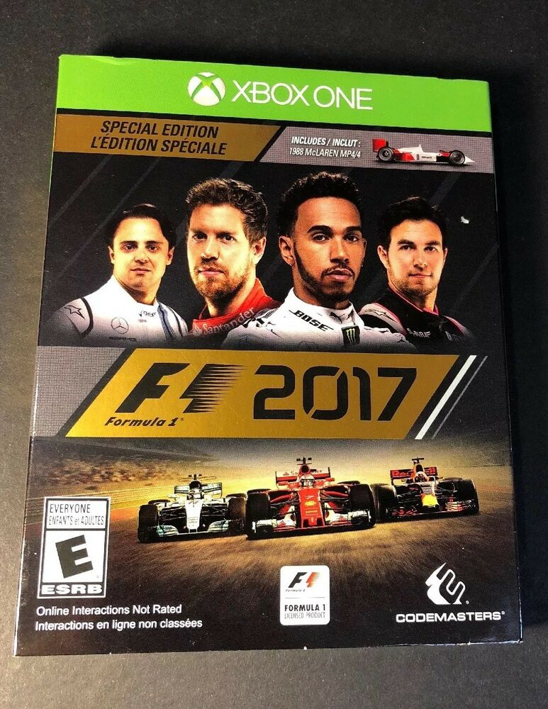 f1 2017 special edition w sleeve cover xbox one new. Black Bedroom Furniture Sets. Home Design Ideas