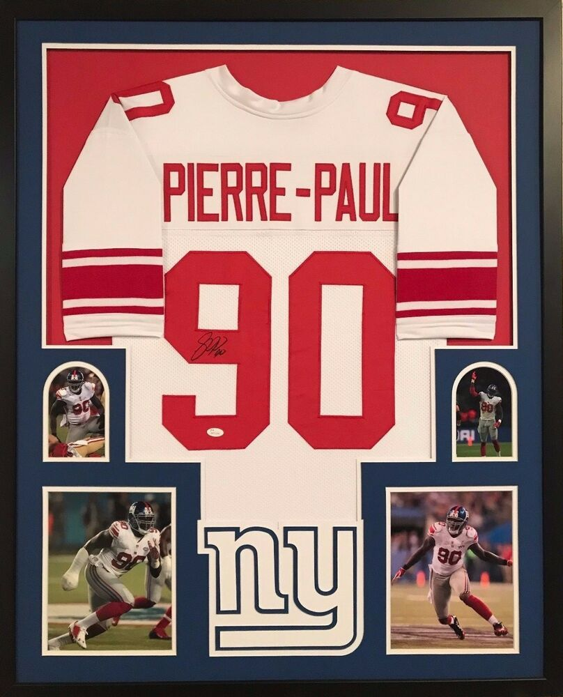 FRAMED JASON PIERRE-PAUL AUTOGRAPHED SIGNED NEW YORK