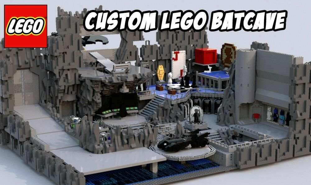 Custom Lego Batcave -- Lego Digital Designer File Only (LXF ...