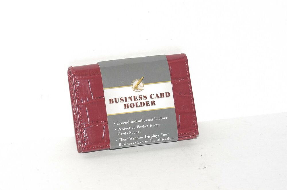Barnes noble punctuate business card holder red croc embossed barnes noble punctuate business card holder red croc embossed 9780641854118 ebay colourmoves