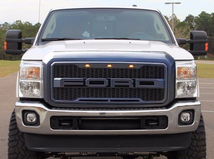 2006 Ford F150 Chrome Grill >> 1999-2016 Ford F250 F350 F450 SD Raptor Style Grille FORD Letters Included | eBay