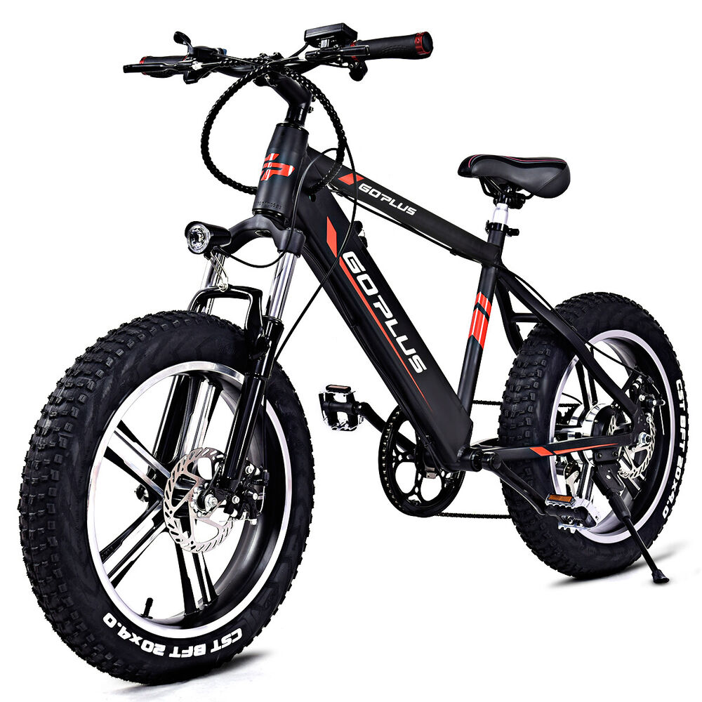 20 electric fat tire bike snow mountain bicycle w. Black Bedroom Furniture Sets. Home Design Ideas