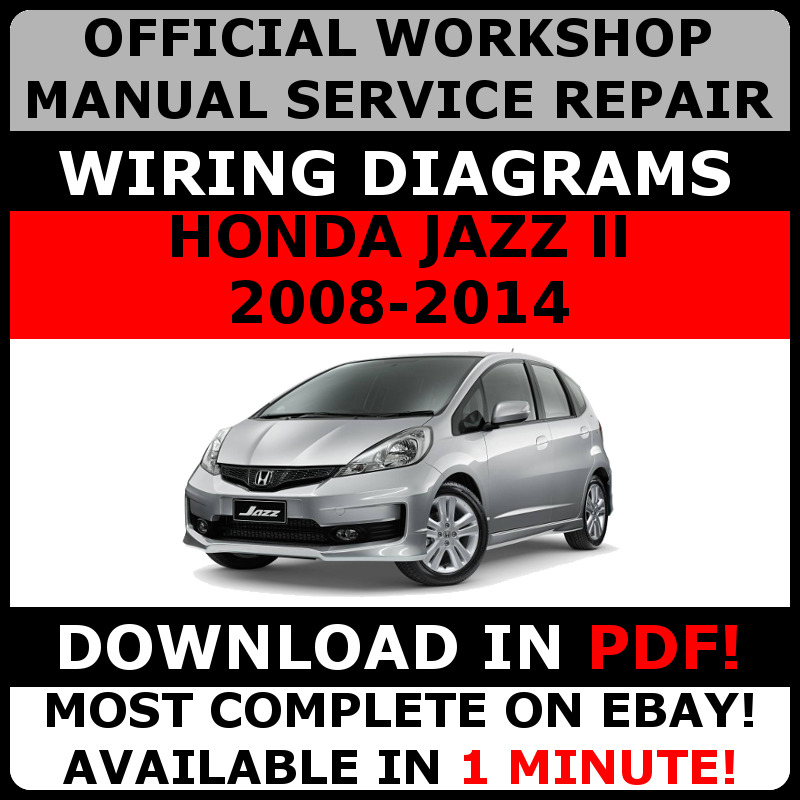 Official Workshop Service Repair Manual For Honda Jazz