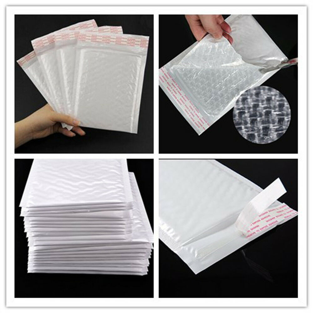 new chic white poly bubble mailers padded envelopes self