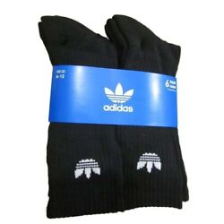 Kyпить Mens Adidas Originals Trefoil Cushioned Socks Crew 6-Pack black/white Size 6-12  на еВаy.соm