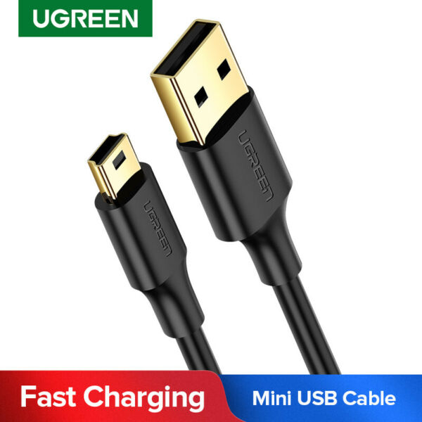 UGREEN USB 2.0 A Male to Mini 5 Pin B Data Charging Cable Adapter DS PC CAMERA