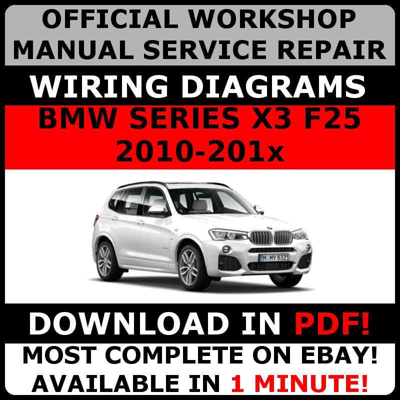 Official Workshop Repair Manual For Bmw Series X3 F25 2010