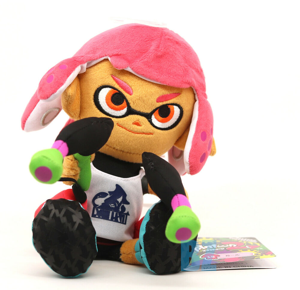 Girl Inkling Neon Pink Stuffed Plush Doll 10 Quot Splatoon 2