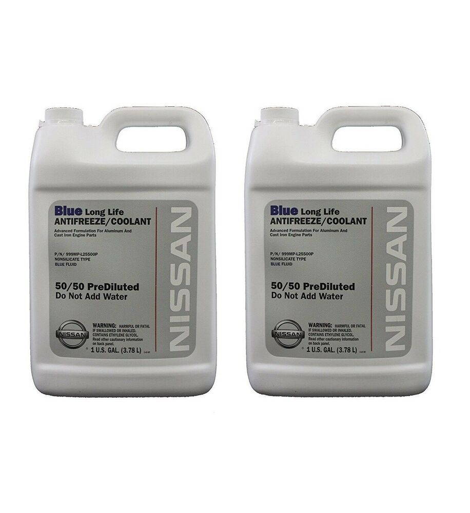 for genuine blue long life antifreeze coolant 2 gallons for nissan