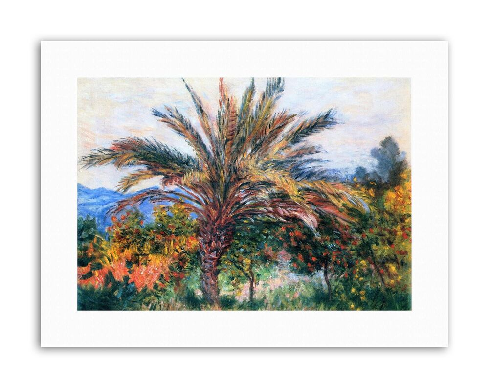 Claude monet palm tree at bordighera poster painting old master canvas art 5057165902224 ebay