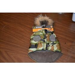 New Reversible Deluxe Hooded Dog Parka U S Army Camo- choose size