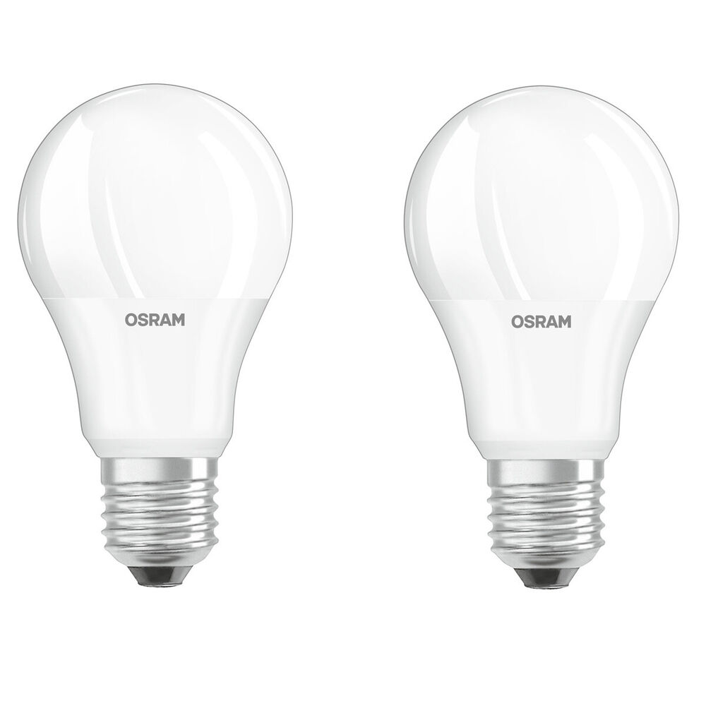 2er pack osram led star daylight sensor e27 5 5w 40 watt 470 lm warm white ebay. Black Bedroom Furniture Sets. Home Design Ideas