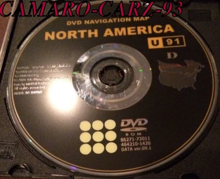 Details About Toyota Gps Navigation Dvd Map Original Disc U91 D Usa Nav Cd Fast Shipping