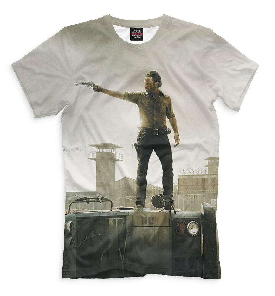 The Walking Dead T Shirt Andrew Lincoln Hq Print Tee Zombie