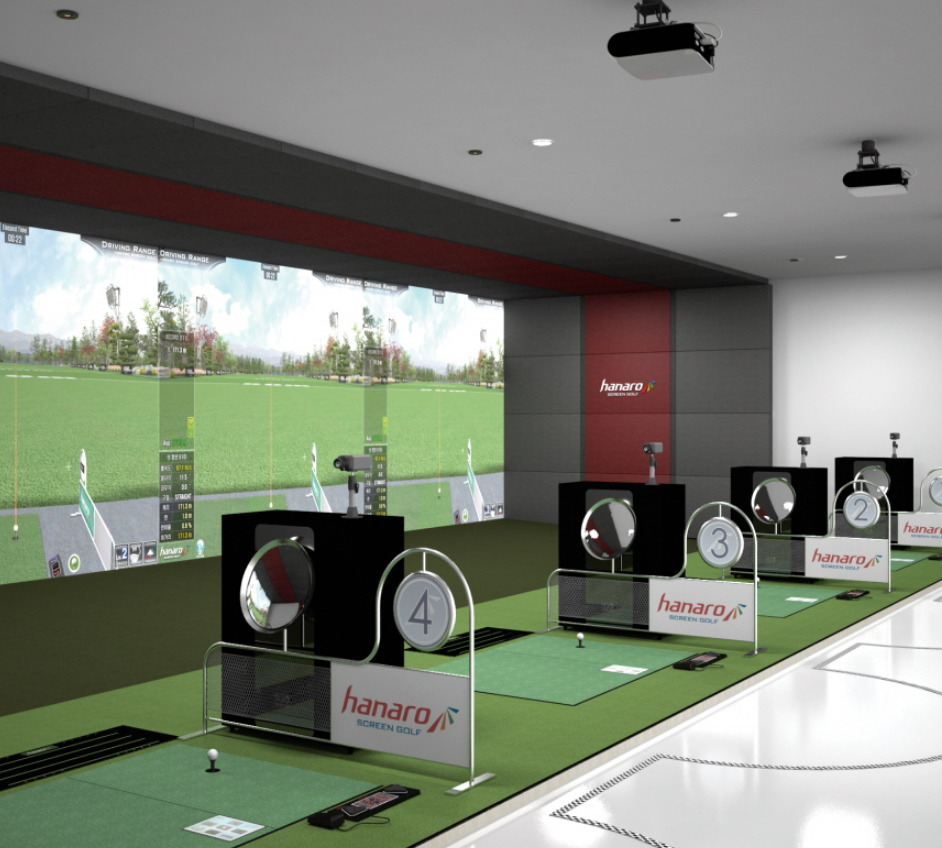 25 X14 Commercial Indoor Golf Simulator Custom Sizes
