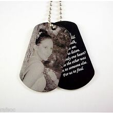 2 Photo Dog Tag Custom Engraved Your Picture With Giftbox Necklace Gift Box