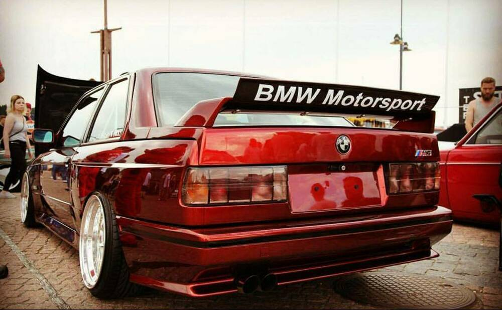 bmw e30 bmw motorsport aufkleber heckspoiler dtm decal m3. Black Bedroom Furniture Sets. Home Design Ideas
